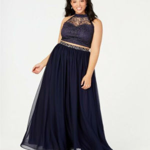 Sequin Hearts Trendy Plus Size Gown